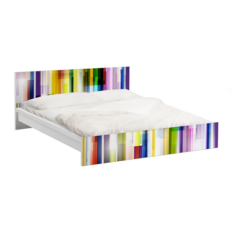 Apalis Möbelfolie für IKEA Malm Bett niedrig 180x200cm Rainbow Cubes 77x197cm