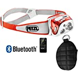 Petzl REACTIK Plus 300 Lumens rechargeable Reactive Lighting Headlamp with Bluetooth and OPG Molded Headlamp Case