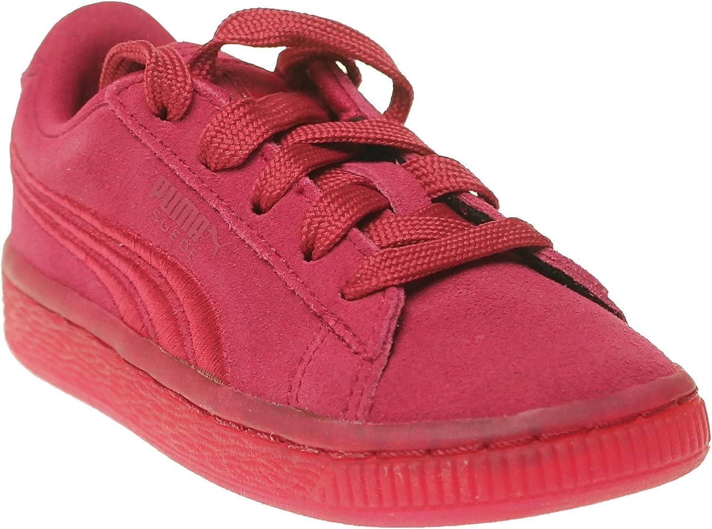 Red Boys Puma Suede Classic Badge Junior Sneakers