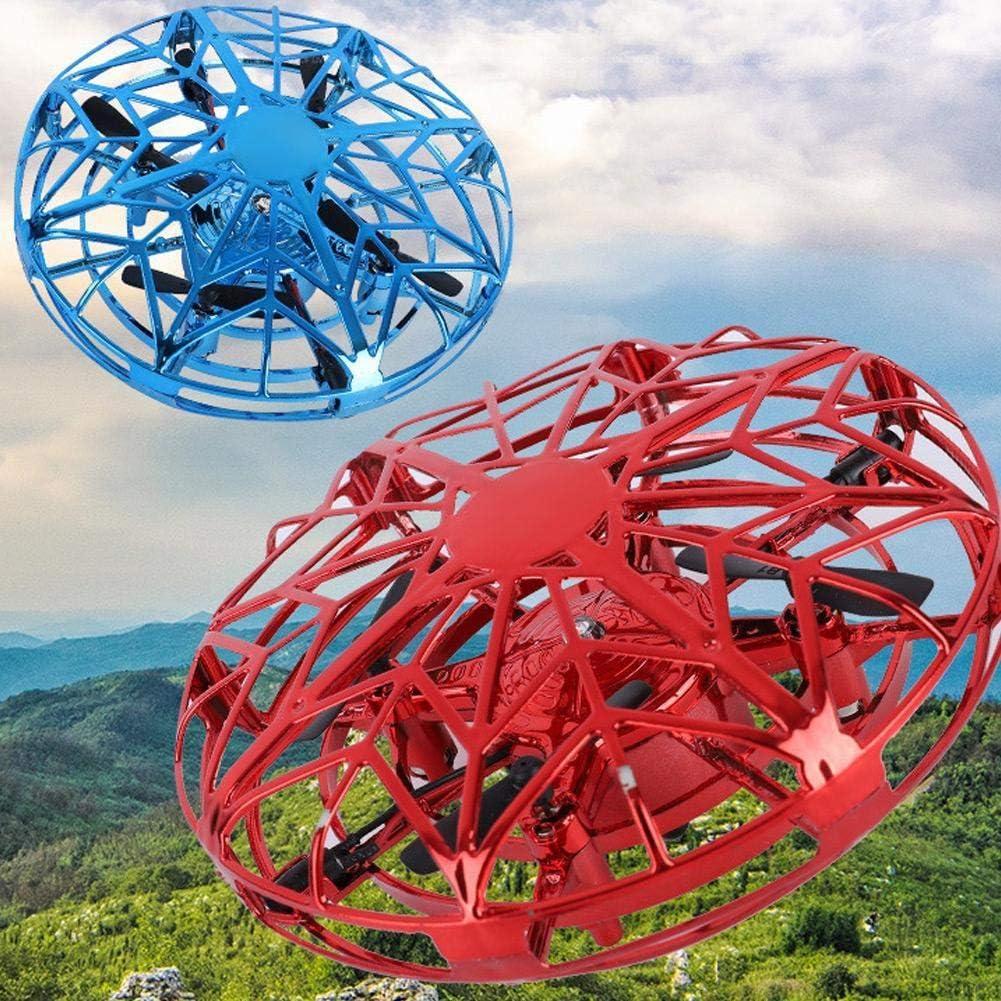 Mini Drone Quadcopter Induction Levitation UFO LED Light USB Charging Gift for Children