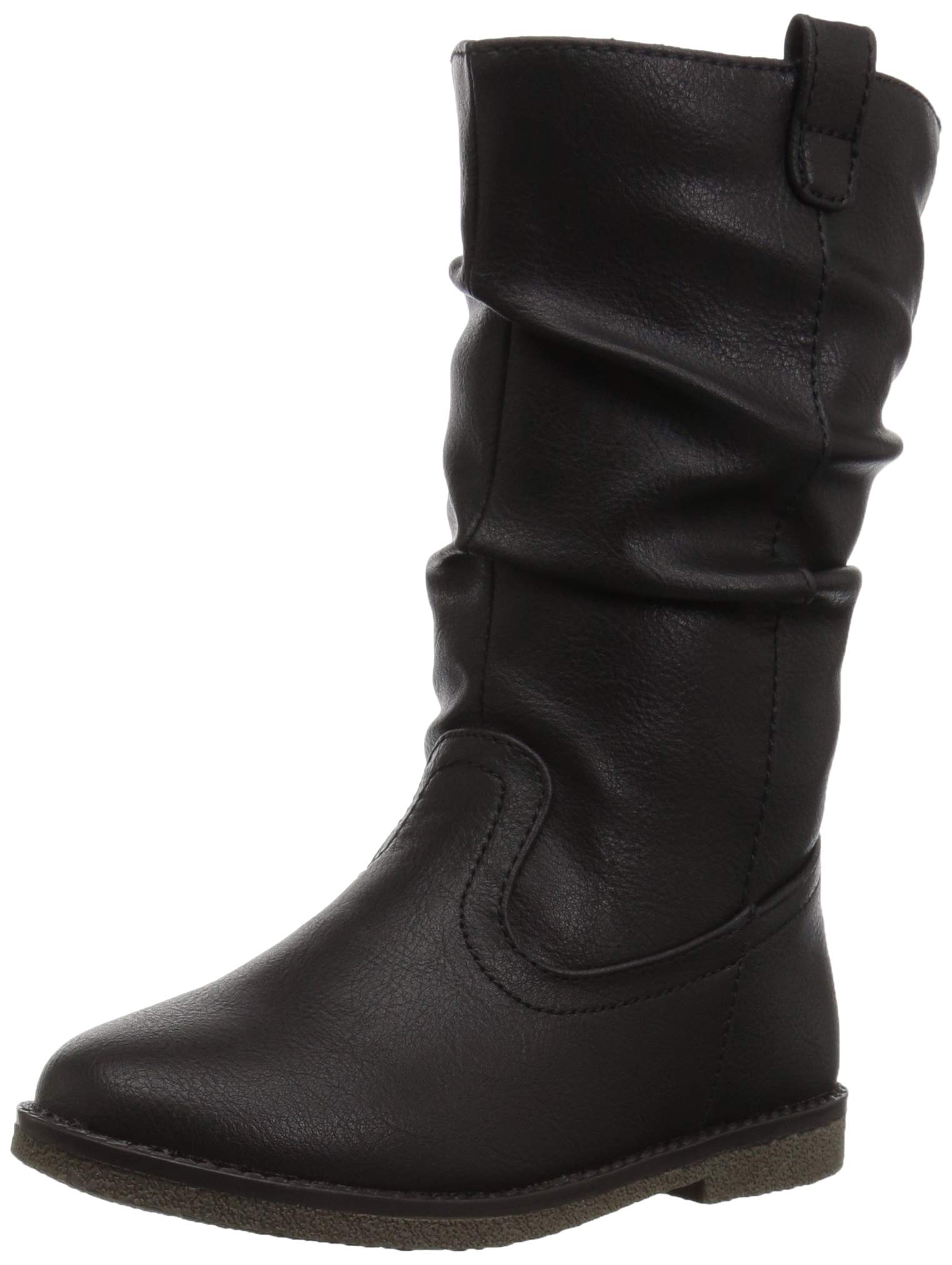 The Children's Place Girls' Tall Fashion Boot, Black, TDDLR 10 Child US Toddler