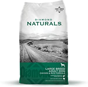 Diamond Naturals Adult Large Breed Real Meat Recipe Premium Dry Dog Food With Real Cage Free Chicken 40Lb