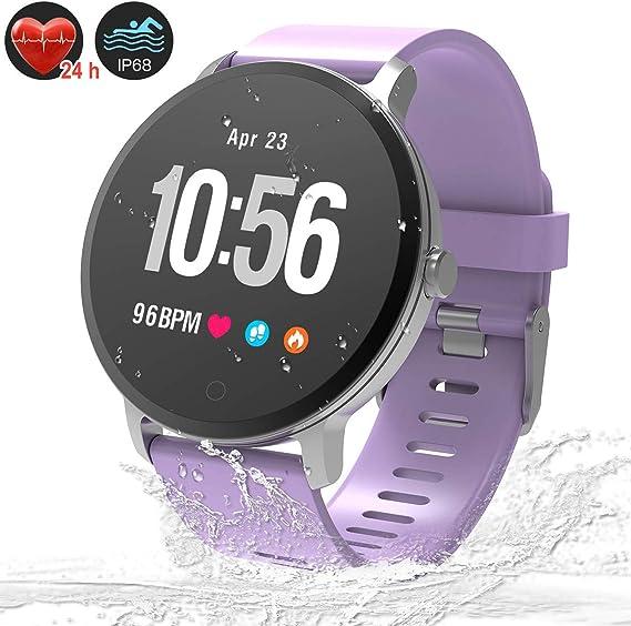 Amazon.com: Fitness Tracker reloj inteligente, impermeable ...