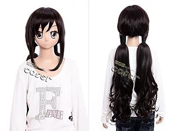 Kawaii-Story W de 351 Blood de c Saya Kisaragi Anime Manga Peluca Wig Negro