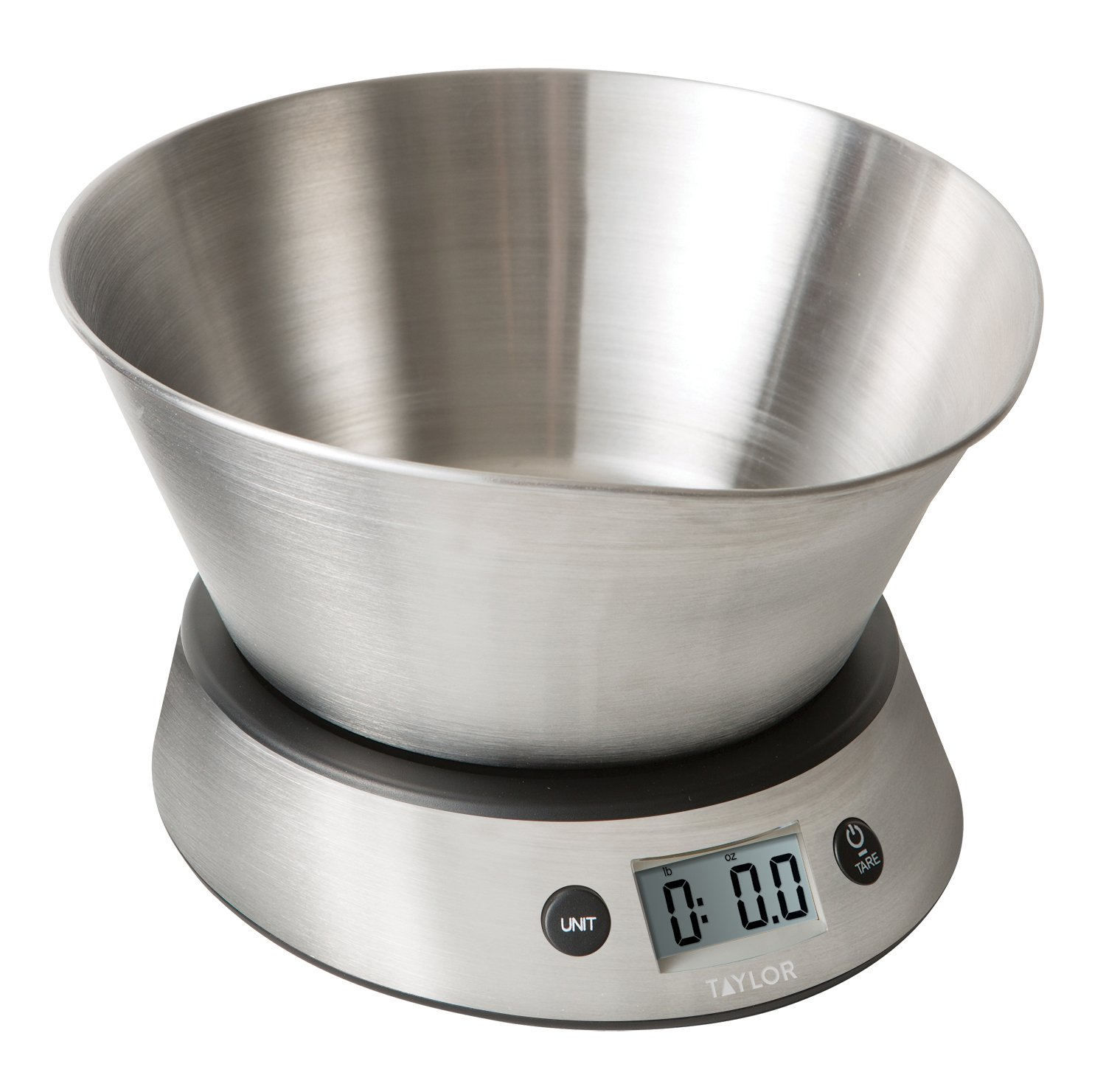 Amazon.com: Taylor Weighing Bowl Digital Kitchen Scale, 11 lb ...