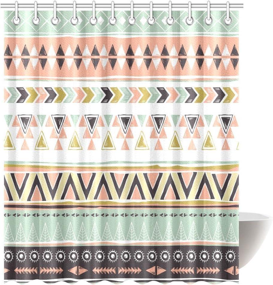 Amazon Cultural Tribal Green Rust Geometric Southwest Theme Fabric Yard