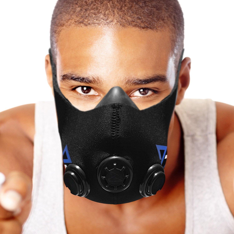 Training Mask Masque d'entraînement Résistance entraînements pour Le Sport, Fitness Course à Pied Sports Crossfit Haute intensité entraînement Fractionné–6Niveaux de Résistance
