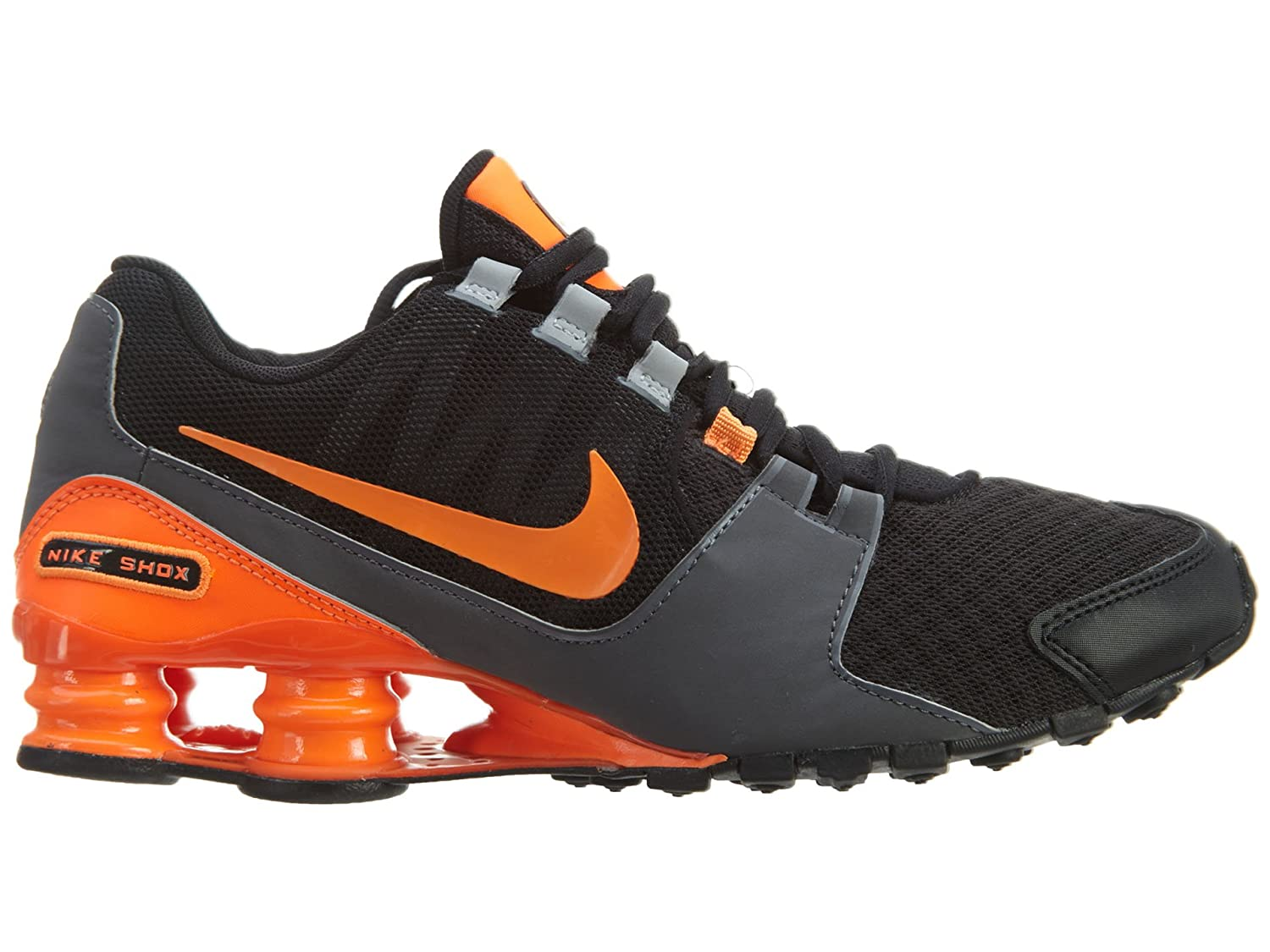 reputable site d8679 d6637 ... Nike Men s Shox Avenue Black Total Orange Wolf Grey Synthetic Running  Shoes 8 M US ...