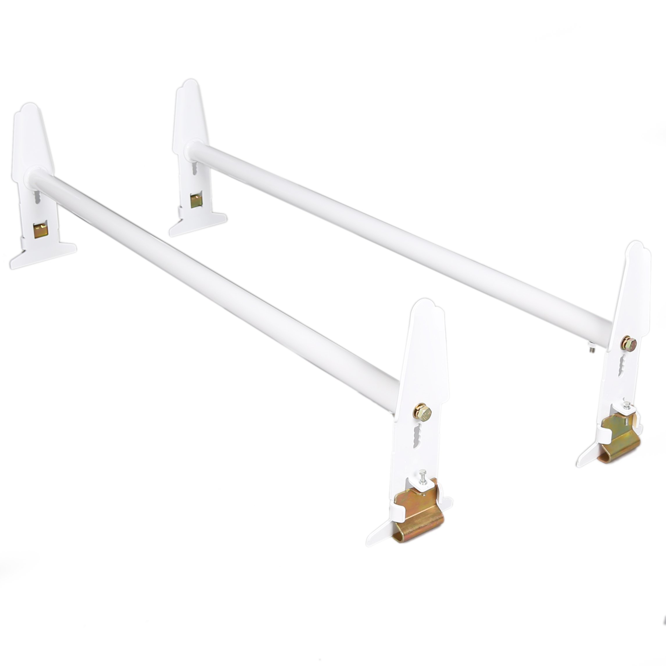 ECOTRIC Adjustable Van Roof Ladder Rack 500LBS 2 Bars Chevy Dodge Ford GMC Express 77''