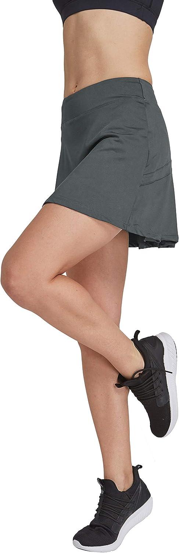 HonourSport - Falda de tenis para mujer con mallas deportivas, tallas XS - XXL gris XXL