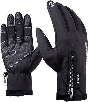 Andyshi Winter Outdoor Touchscreen Glove Anti-slip Cycling Gloves Black Medium