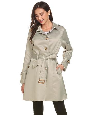 b5d9d65c6b2b Beyove Damen Klassischer Trench Coat Winter Mantel Jacke Mit Gürtel Elegent  Langmantel Winterjacke  Amazon.de  Bekleidung