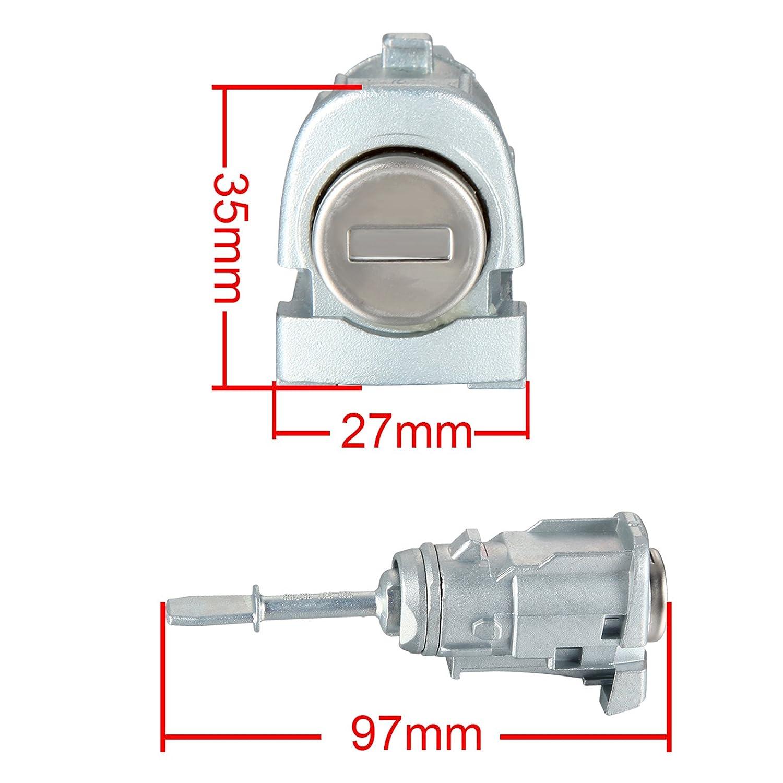 2 x Madlife Garage 3B0837167 T/ürschloss Schlie/ßzylinder Vorne Links Rechts mit Schl/üssel Lupo 6X1 6E1