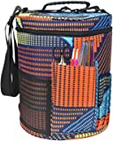 Zaote Portable Knitting Bag For Yarn Storage Crochet Yarn Ball Holder Light and Easy to Carry with Pockets for Accessories