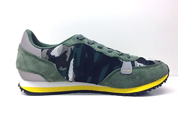 Gaudì 66081 Sneakers Scarpe Uomo Camouflage Military Yellow