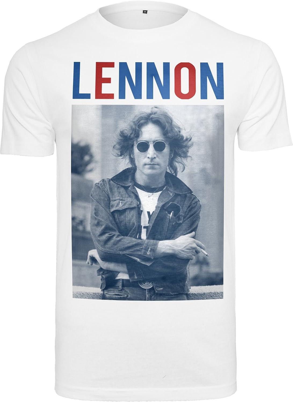 /Camiseta MERCHCODE Merch C/ódigo Joven John Lennon bluered tee/