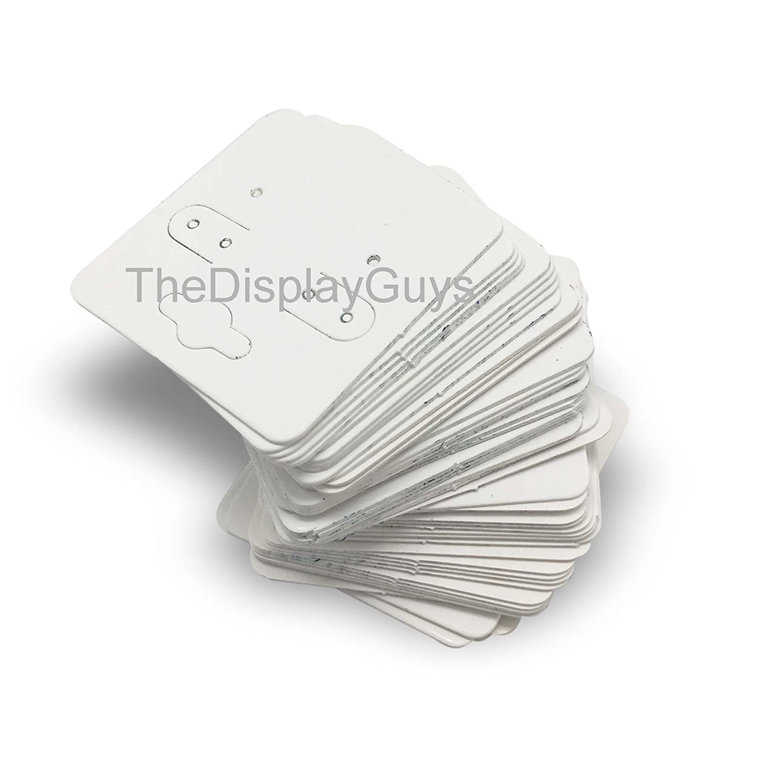 47mm x 123mm The Display Guys Pack of 100 pcs 1 7//8 X 4 3//4 inch Kraft Fold Over Paper Necklace Earrings Display Hanging Cards for Jewelry Accessory Display