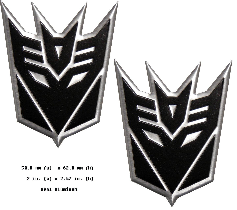Amazon Transformers Decepticon Pair Aluminum Medium Emblems In
