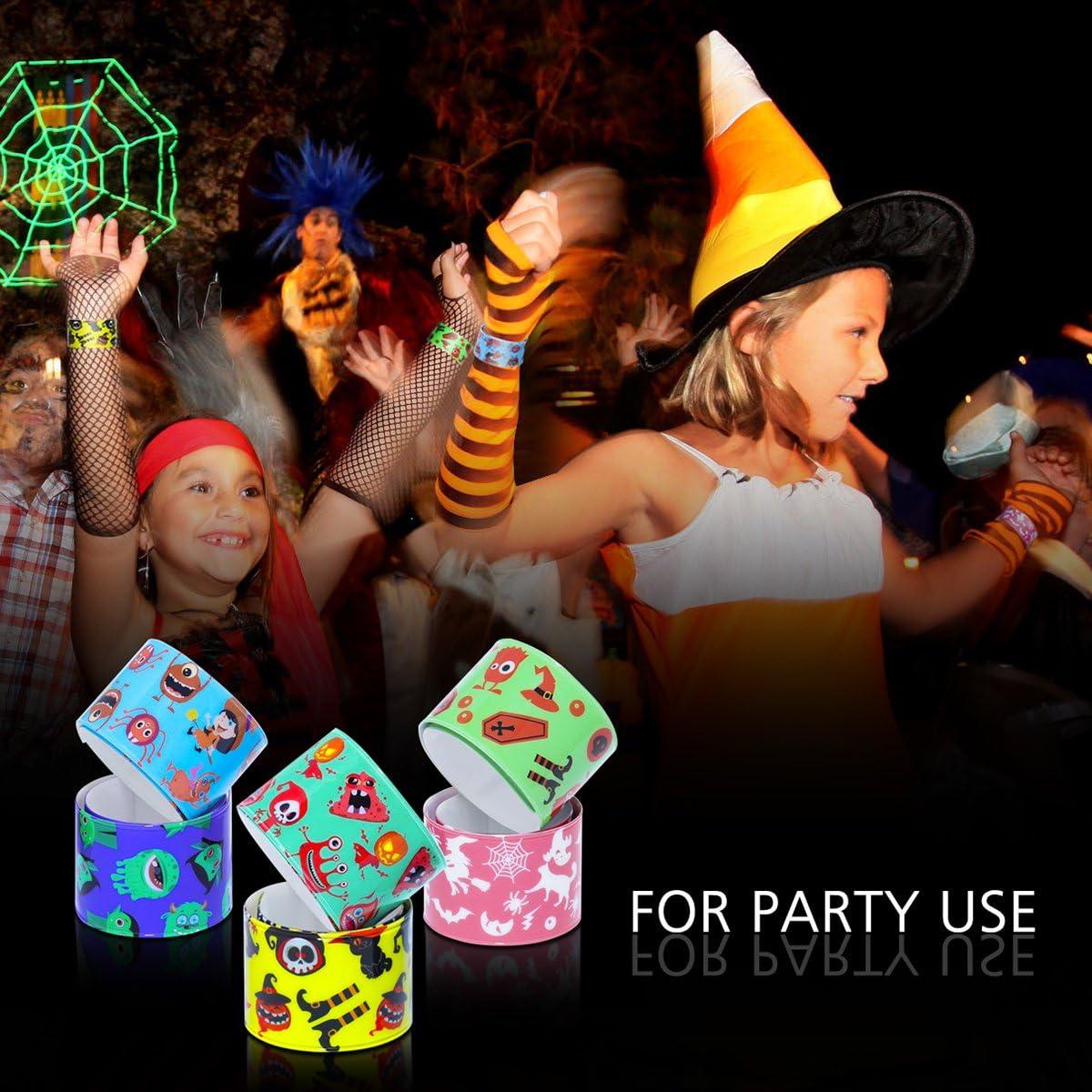 Halloween Slap Bracelets Pack Assorted Slap Bracelets Wristbands for Halloween Wrist Decoration Party Favors for Kids