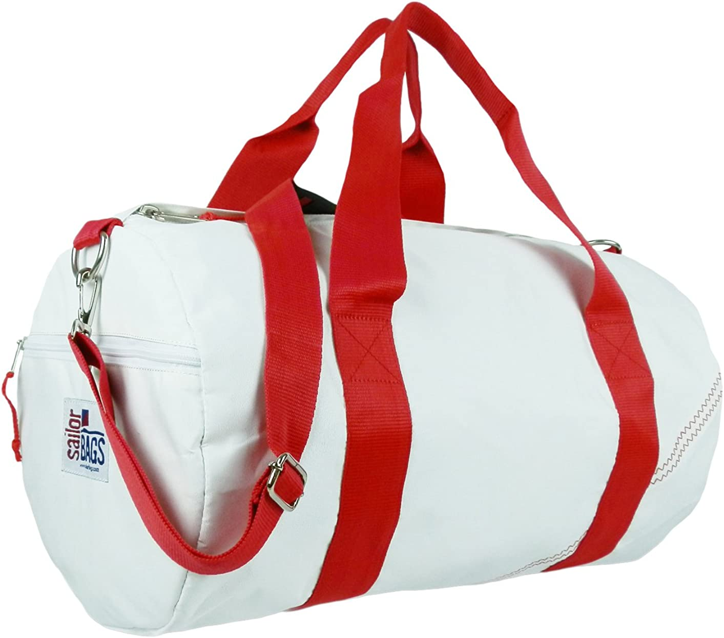 SailorBags Round Duffel with Red Straps