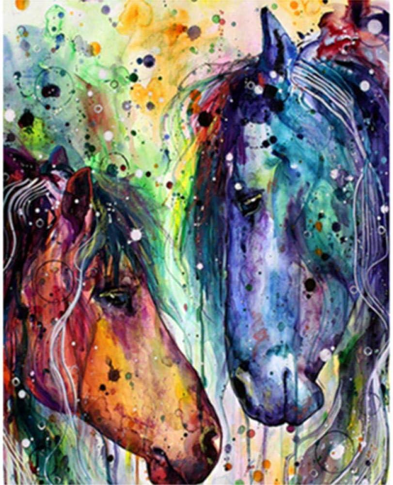 nobrand Bricolaje Digital Óleo Cuadro Caballo Romántico Regalo De Pintura Al Óleo para Adultos Niños Pintura por Número Kits Decoraciones para El Hogar 16 * 20 Pulgadas