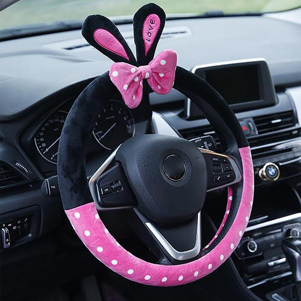 LPY-Invierno corto Plush coche conjuntos Car Steering Wheel cubierta de dibujos animados lindo, conejo: Amazon.es: Deportes y aire libre