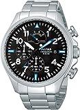 Pulsar Uhren - PS6049X1 - Montre Homme - Quartz Chronographe - Chronomètre - Bracelet Cuir Noir