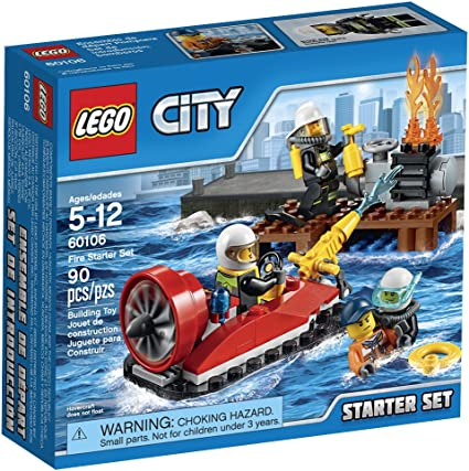 Lego City Firefighter Rescue Minifigure w//Scuba Gear Kit /& Ring from set 60106
