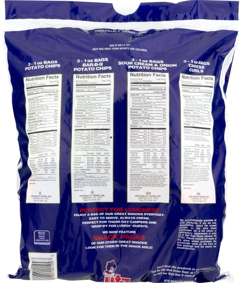 Utz patatas chips y variedad Snack Pack 12 unidades (2 ...