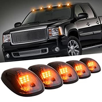 light roof lens lights parking top itm cab amber clearance suv acc truck smoked led running full
