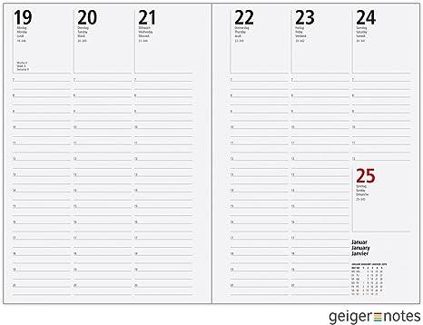 Gr/ö/ße Plus 155 x 213 mm vertikal Wochenansicht Miquelrius Kalendereinlage 2021 6 Ringe