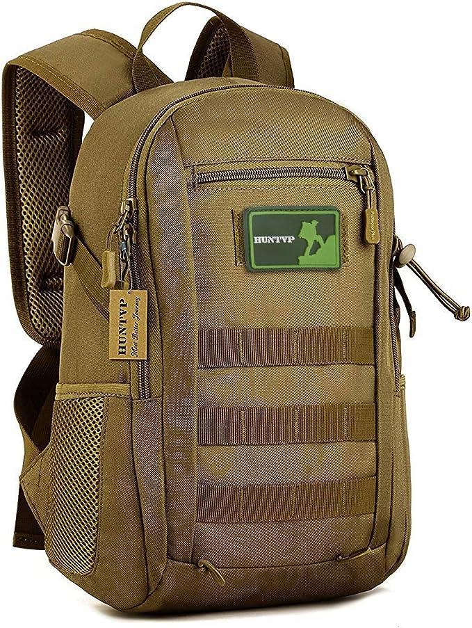 sunvp 12L Mini Mochila Militar Molle Mochila Gear Tactical Assault Pack Estudiante Bolso De Escuela Para la caza Camping Senderismo Viaje: Amazon.es: Deportes y aire libre