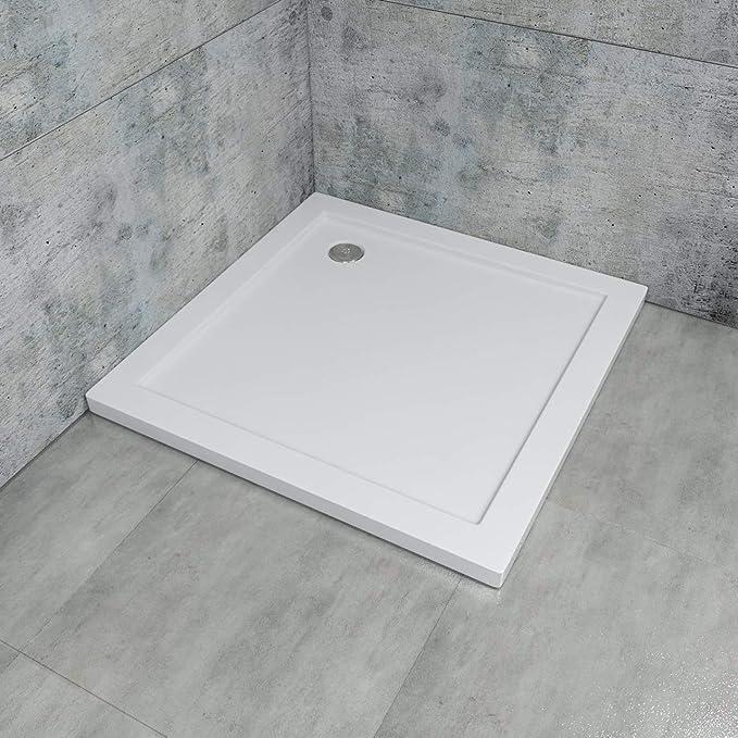 Plato de ducha rectangular, extra plano de acrílico en color ...