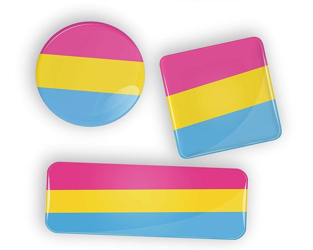 Polyamory Pride Flag pin badge button or fridge magnet LGBT LGBTQ LGBTQI LGBTQIA