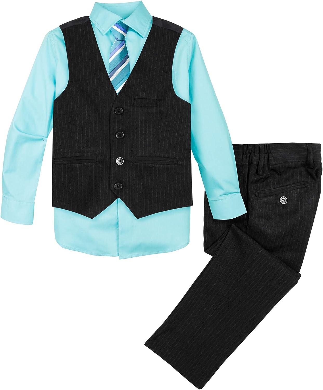 Spring Notion Baby Boys 5 Piece Pinstriped Vest Set