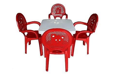 Sillas Resol niños Niños del jardín al aire libre plástico y Mesas - Sillas Rojas,