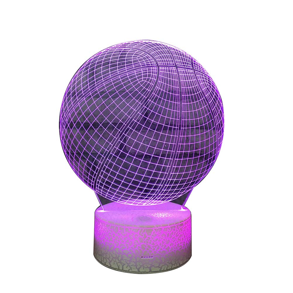 Togethluer Creative 3D 7 Color LED Touch Night Light,Bedroom Desk Lamp Home Decor Gift by Togethluer (Image #1)
