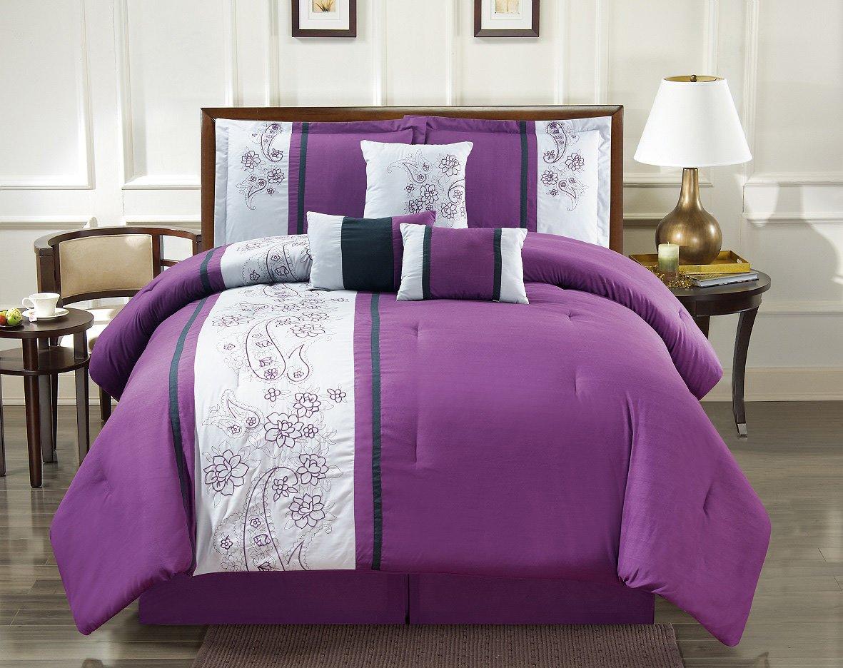 Purple And Black Bedding Sets