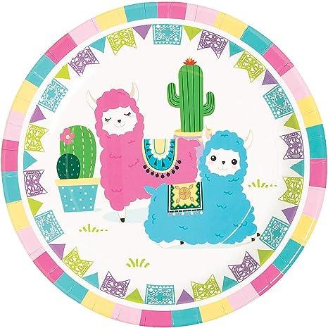 Cactus Plate  Fiesta Plate  Green Cactus Plate  Cinco De Mayo  Mexican Fiesta  Fiesta Party Plates  Llama Cactus Party