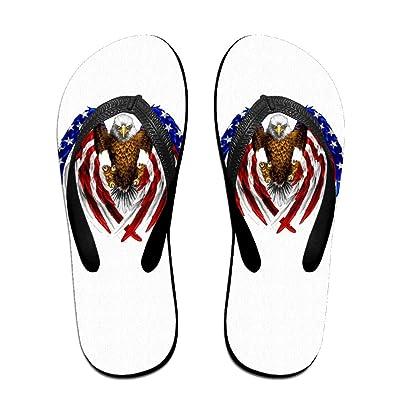 American Flag Wing Art Eagle ZUniverse Unisex Top Flip Flops Slippers