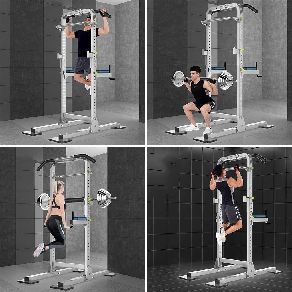 SJNQJJ Power Tower,Standing Full Body Chin Up Bar,Adjustable Dip Station,Strength Muscle Training Fitness Workout Multi-Function Parallel Bars Squat Bench Home Boxing Sandbags Horizontal Bar