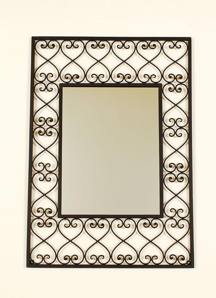 Ashton Sutton SF100565 Wall Mirror with Metal Frame