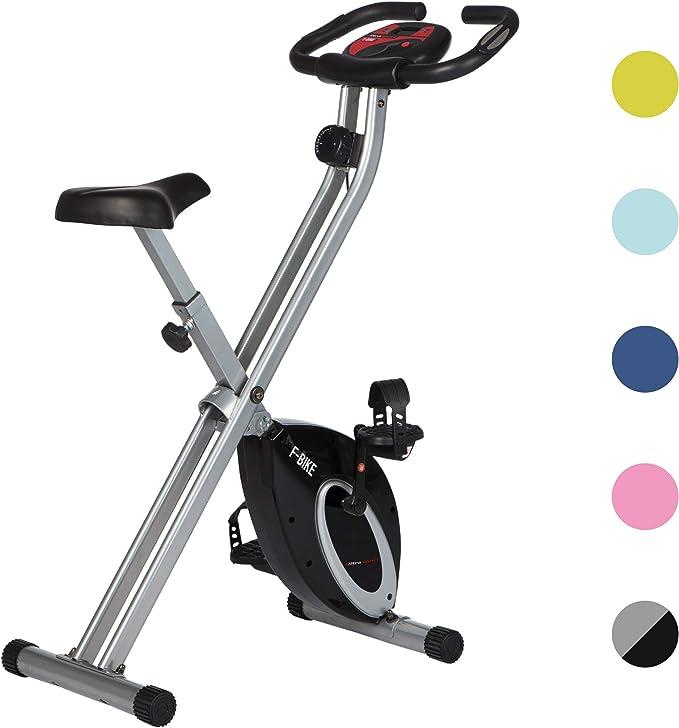 Ultrasport F-Bike Advanced estática LCD Hometrainer, Niveles de Resistencia Ajustables con senso...
