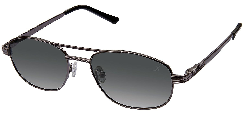 Xezo Hombres de piloto UV negro clásico de titanio polarizadas gafas de