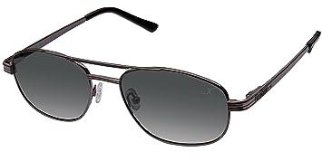Xezo Hombres de piloto UV 400 Negro clásico de Titanio polarizadas Gafas de Sol, Cromado
