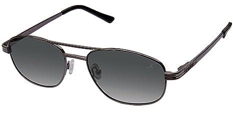 Xezo Hombres de piloto UV 400 Negro clásico de Titanio polarizadas Gafas de Sol, Cromado, 0,7 oz