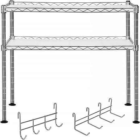 MONTADA EN UN INSTANTE: La estantería de microondas se entrega con instrucciones detalladas e ilustr