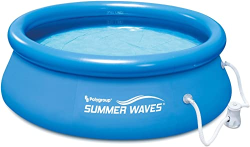Summer Waves 8ft x 8ft x 2.5ft Inflatable Above Ground Pool