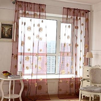de ventanade para saln dormitorio balcnflores sol cortinas gasa