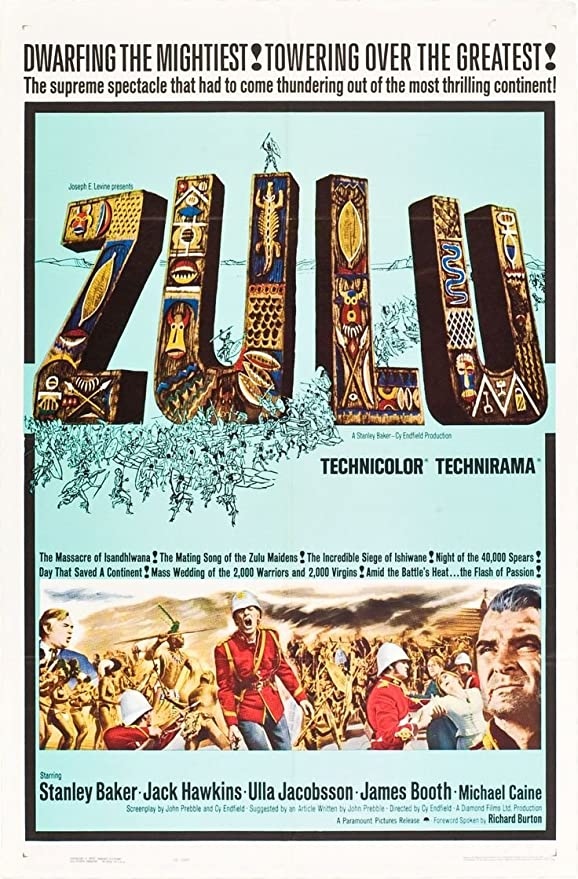 Zulu Movie Poster 1964  Canvas Wall Art Picture Print ~ VARIOUS SIZES